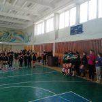 Первое место в соревнованиях по волейболу