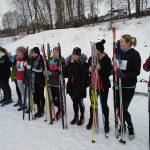 Первое место в городской лыжной эстафете