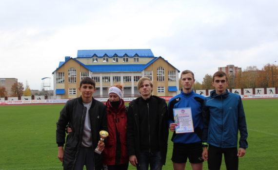 II место в легкоатлетической эстафете среди юношей в городской спартакиаде