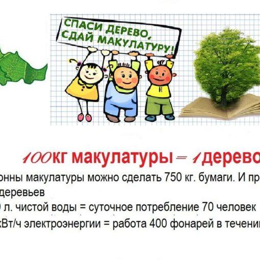 Итоги конкурса «Сдай макулатуру – спаси дерево!»