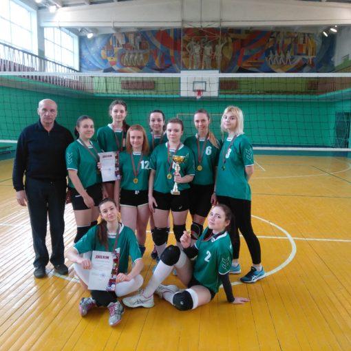 I место в областных соревнованиях по волейболу среди девушек