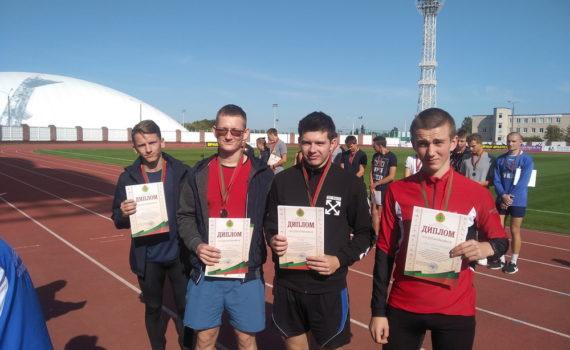 II место в областных соревнованиях по летнему многоборью «Здоровье» среди юношей