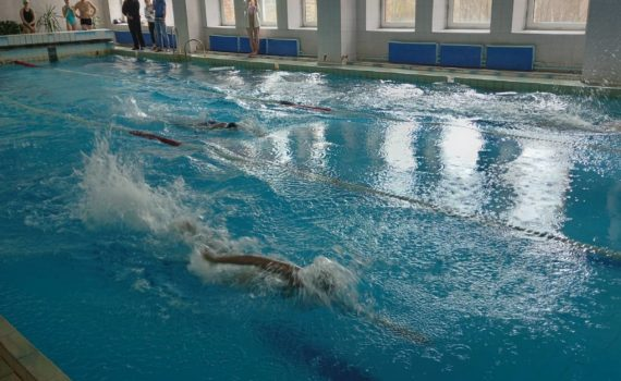 II место по плаванию среди учащихся высших и средних специальных учебных заведений